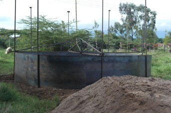 Partially completed tank
